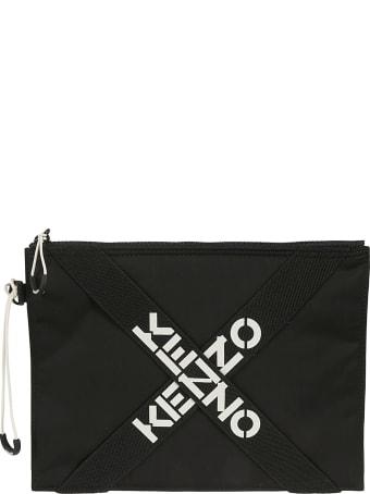 Kenzo Cross-strap Logo Clutch