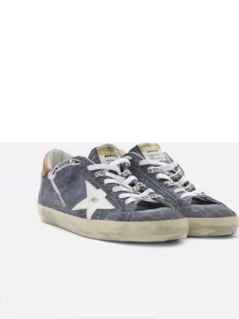 Golden Goose Superstar Sneakers In Leather With Contrasting Inserts