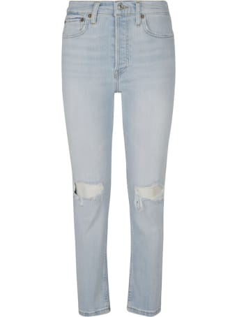 RE/DONE 90's High Rose Ankle Crop Jeans
