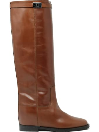 Via Roma 15 3428 Brown Leather Saint Barth Boots