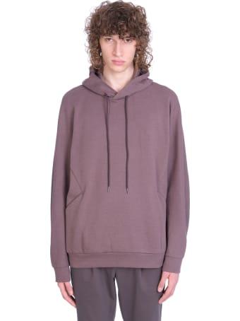 Attachment Sweatshirt In Brown Cotton
