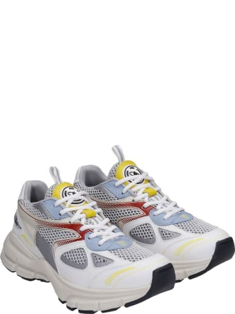 Axel Arigato Marathon Sneakers In White Leather And Fabric