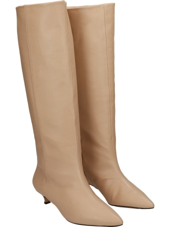 Alchimia Low Heels Boots In Powder Leather