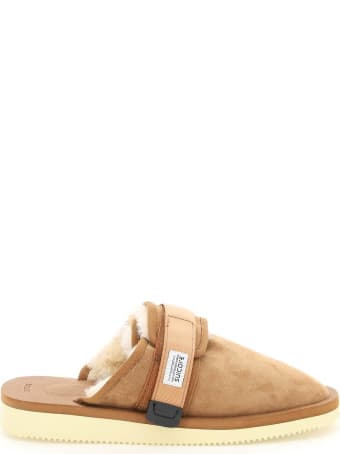 SUICOKE Zavo Suede Sabot With Shearling