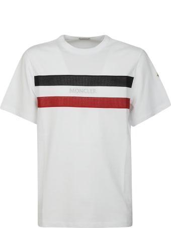 Moncler Front Logo Stripe Detail T-shirt