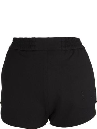McQ Alexander McQueen Woman Black Sports Shorts With Logo