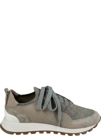Brunello Cucinelli Glittery Detail Sneakers