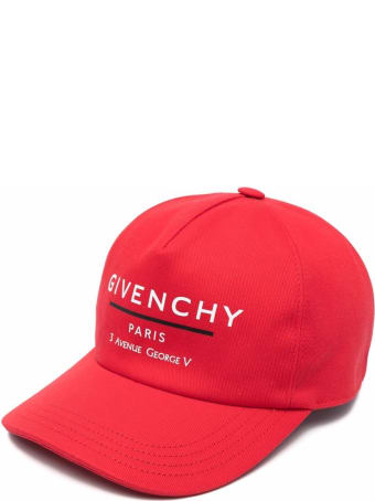 Givenchy Kid Red Givenchy Label Baseball Cap