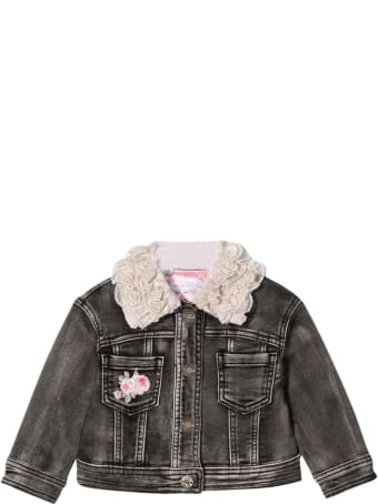 Monnalisa Black Denim Jacket