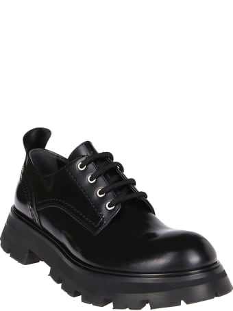 Alexander McQueen Black Leather Lace-up Shoes