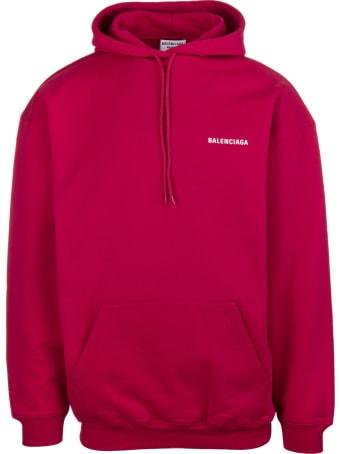 Balenciaga Unisex Red Balenciaga Wide Line Hoodie