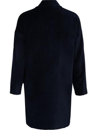 Jejia Katherine Blue Double-breasted Cotton Jacket