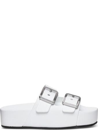 Balenciaga Mallorca Sandals In White Leather