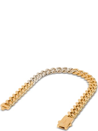 Saint Laurent Chain Necklace In Golden And Silver Plated Brass