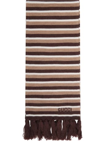 Gucci Multicolor Scarf For Kids With Logo