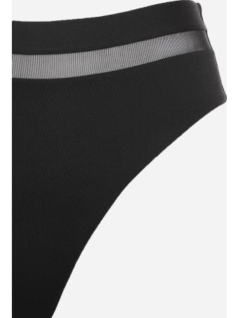 Fisico - Cristina Ferrari High-waisted Bikini Bottoms With Logo Application