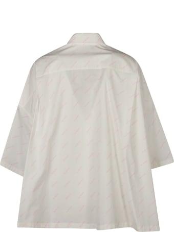 Balenciaga Logo Motif Oversized Shirt