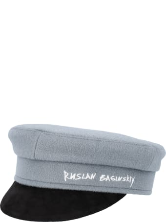 Ruslan Baginskiy Embroidered Signature Baker Boy Hat