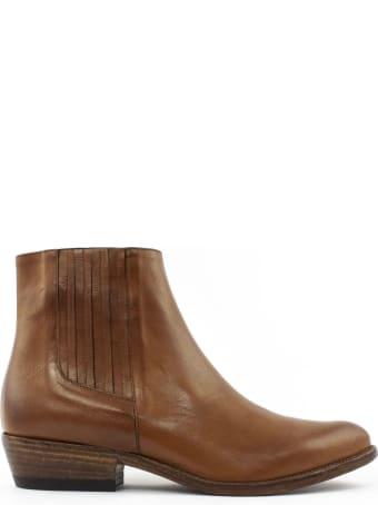 Duccio del Duca Brown Leather Ankle Boot