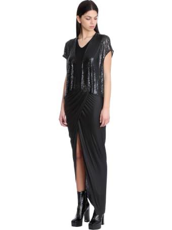 Rick Owens Lilies Skirt In Black Viscose
