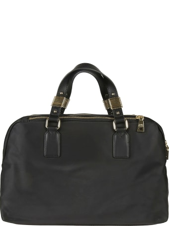 Love Moschino Logo Patched Top Handle Tote
