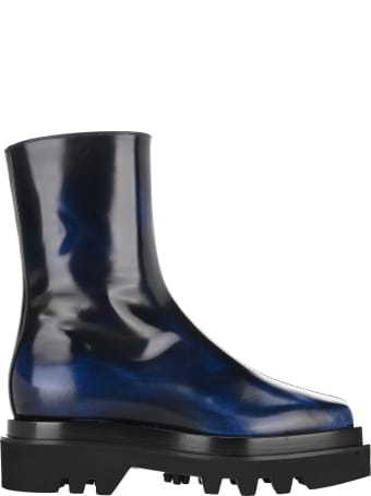Peter Do Square Toe Combat Boots