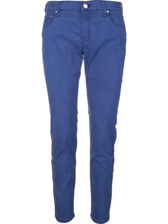 Jacob Cohen Woman Royal Blue Kimberley Crop Pants