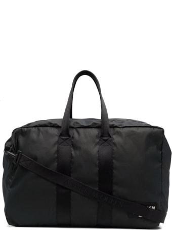 Alexander McQueen Man Black Mcqueen Graffiti Travel Bag