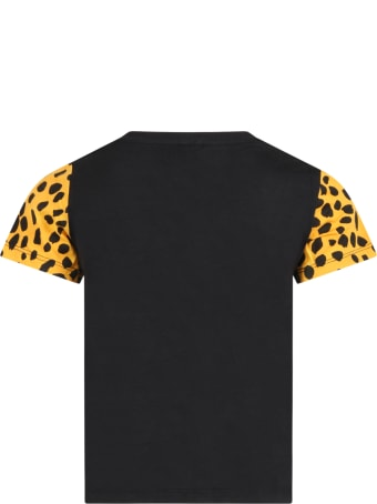 Stella McCartney Black T-shirt For Kids With Tigers
