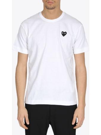Comme des Garçons Shirt Boy Black Heart Patch Tee