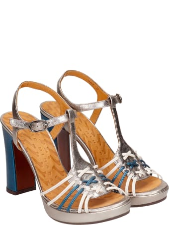 Chie Mihara Calida 38 Sandals In Silver Leather