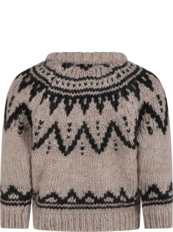 The New Society Grey ''lenny'' Sweater For Kids
