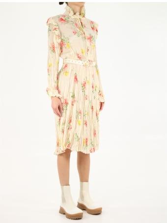 Balenciaga Off Shoulder Flower Dress
