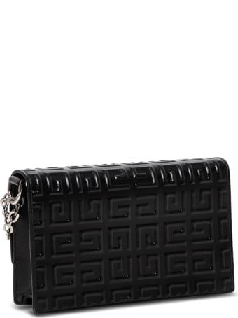 Givenchy 4g Mini Chain  Black Leather Crossbody Bag