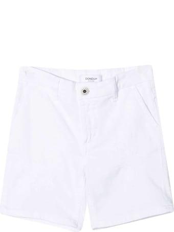 Dondup White Denim Bermuda Shorts