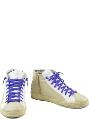 P448 Beige Shiny Leather Mid-top Women's Sneakers