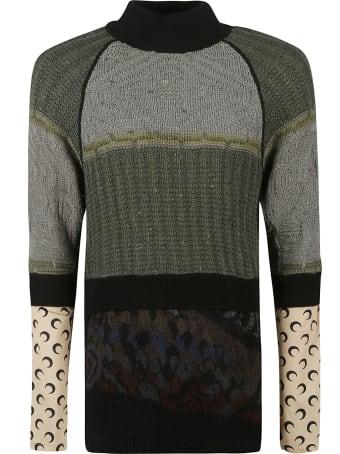 Marine Serre Multi-design Sweater