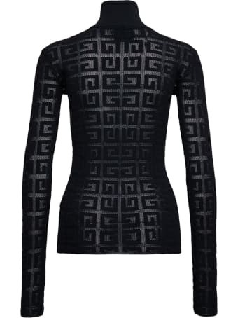 Givenchy 4g Monogram Stretch Viscose Turtleneck