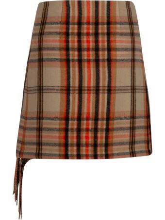 MSGM Check Skirt