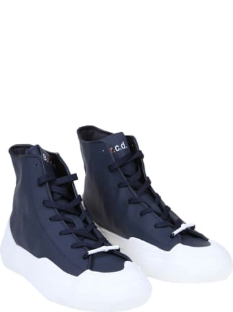 Barracuda High Sneakers In Blue Leather