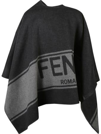 Fendi Logo Cape
