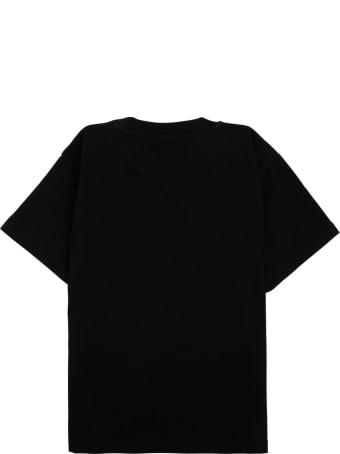 Balenciaga Black Jersey T-shirt With Logo Print