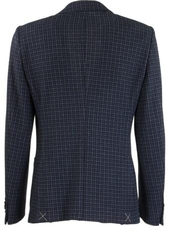 Etro Pied De Poul Jersey Jacket Blazer