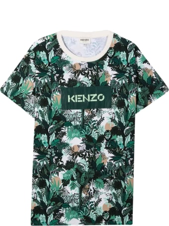 Kenzo Kids Unisex Patterned T-shirt