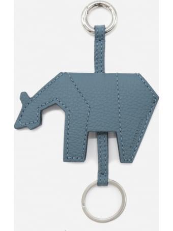 Zanellato Leather Key Ring With Tone-on-tone Stitching