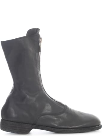 Guidi Lined Front Zip Army Boot