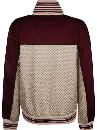 Gucci Logo Patch Web Stripe Detail Jacket