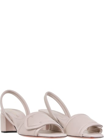 Santoni Sandals In Cream Leather