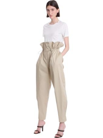 WANDERING Pants In Beige Cotton