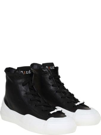 Barracuda High Sneakers In Black Leather